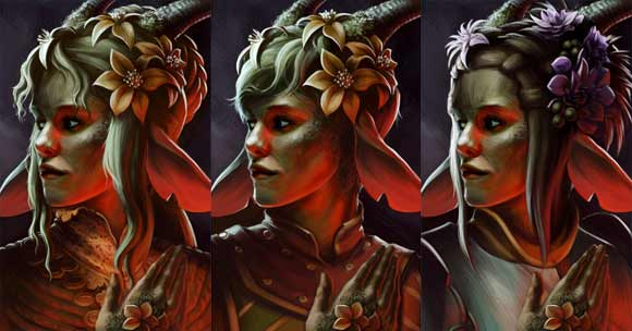 Earth Godlike portrait variants.
