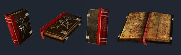 A typical grimoire used to hold wizard spells.