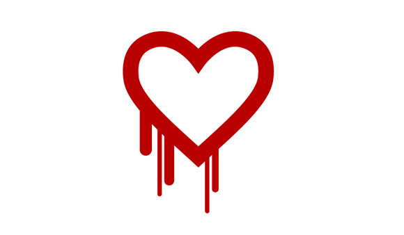 Heartbleed warning.