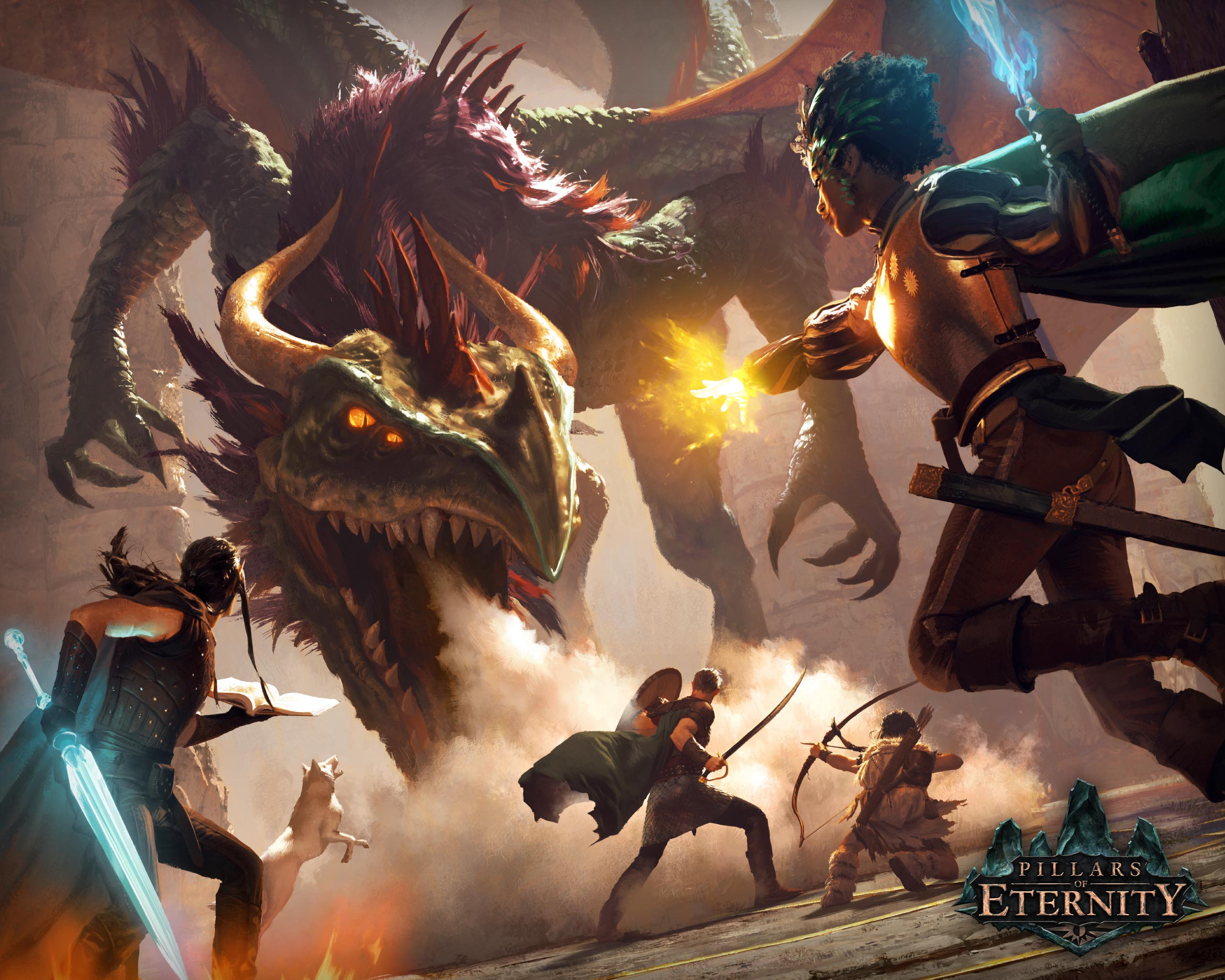 Pillars Of Eternity Wallpaper: Sky Dragon Battle